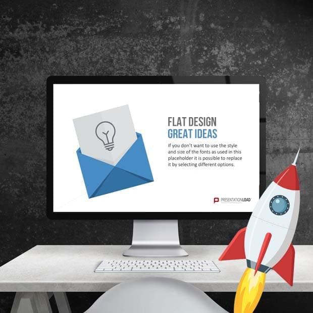 Presentationload powerpoint templates compelling flat design graphics in powerpoint toneelgroepblik Image collections